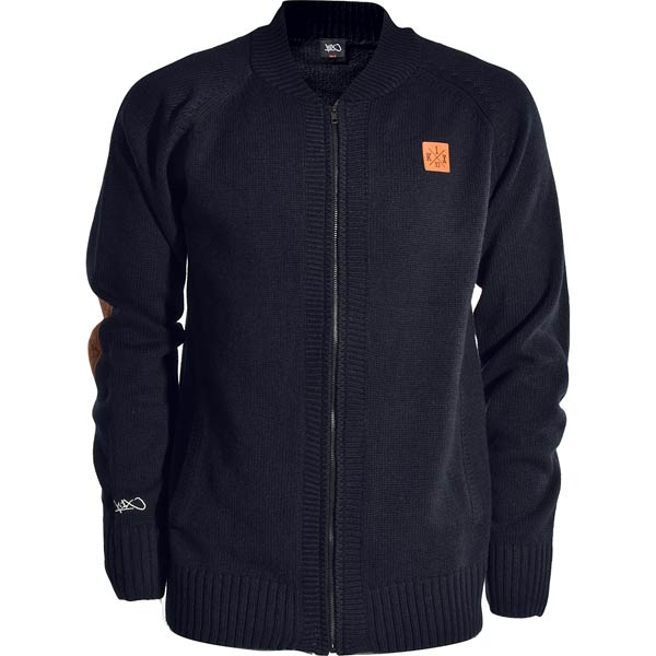 Кардиган K1X Crest knit college jacket