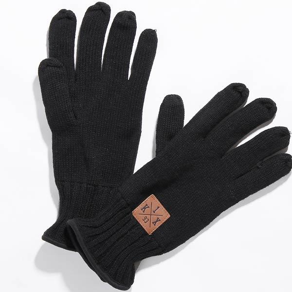 Перчатки K1X Crest knit glovesПерчатки<br><br><br>Цвет: черный<br>Размеры US: 2XL