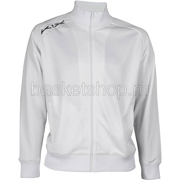 мужской белый, черный  hardwood intimidator warm up jacket 7100-0001/1100 - цена, описание, фото 1