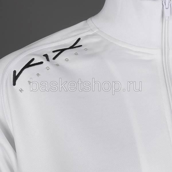 мужской белый, черный  hardwood intimidator warm up jacket 7100-0001/1100 - цена, описание, фото 2