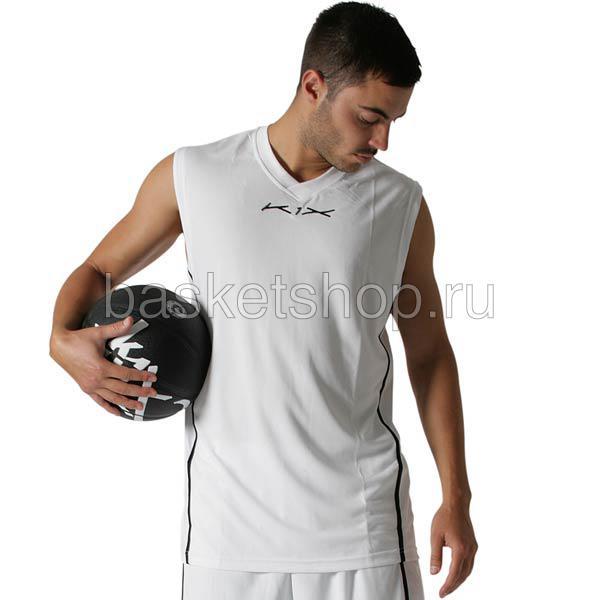 Майка Hardwood league uniform jerseyБезрукавки<br>100% полиэстер<br><br>Цвет: белый<br>Размеры US: XS;S;XL;2XL;3XL<br>Пол: Мужской