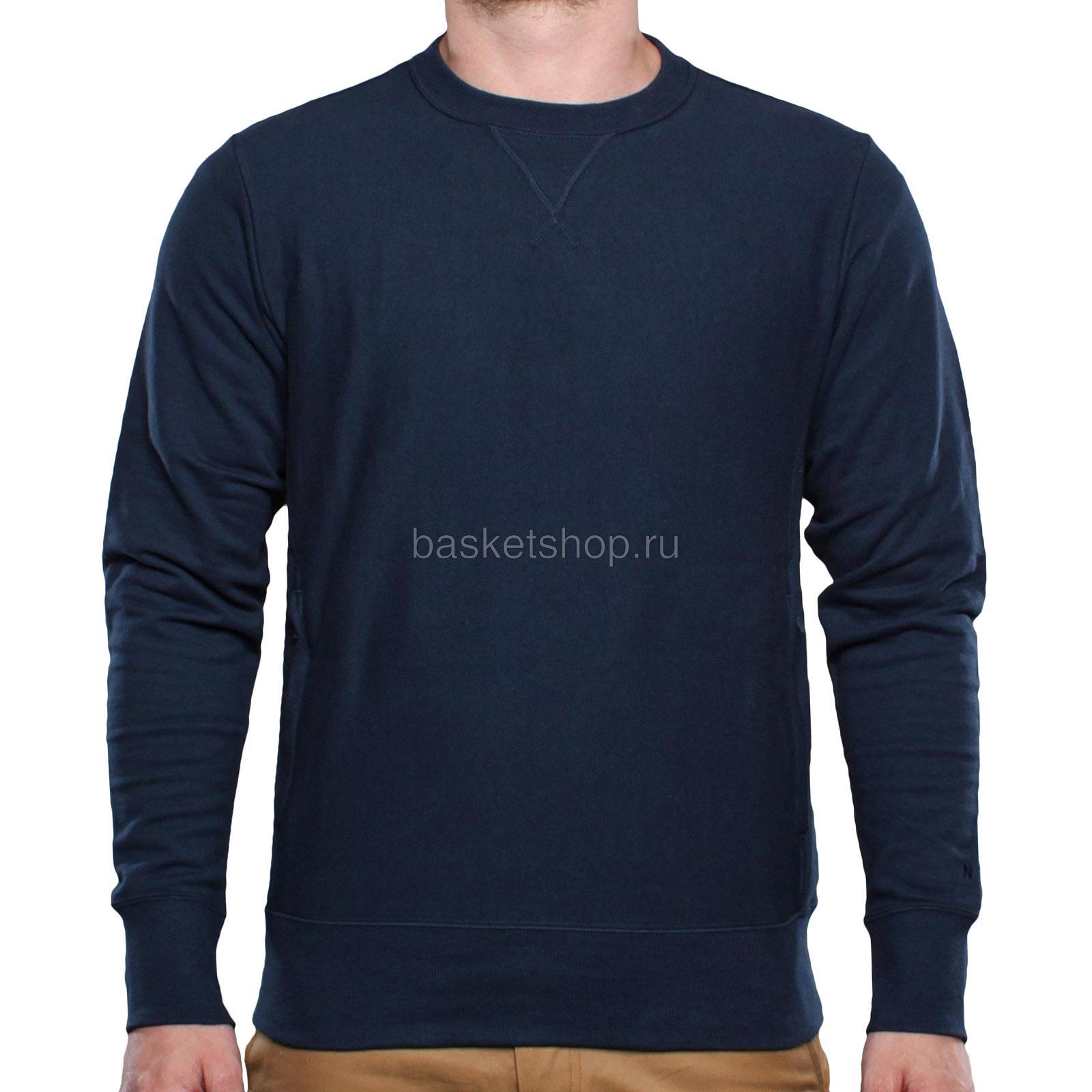 AS AW77 CrewТолстовки свитера<br>100% хлопок<br><br>Цвет: темно-синий<br>Размеры US: L