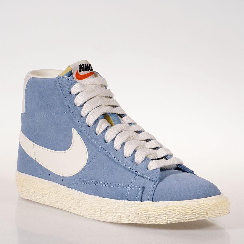 6ad4ced1 женские голубые кроссовки wmns blazer mid suede vintage 518171-400 - цена,  описание,