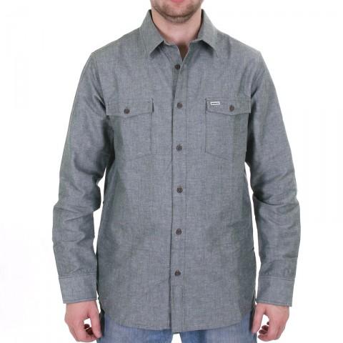 Купить мужскую серо-зеленую  рубашку boylife в магазинах Streetball - изображение 1 картинки