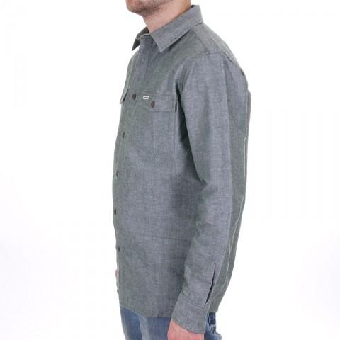 Купить мужскую серо-зеленую  рубашку boylife в магазинах Streetball - изображение 2 картинки