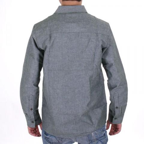 Купить мужскую серо-зеленую  рубашку boylife в магазинах Streetball - изображение 3 картинки